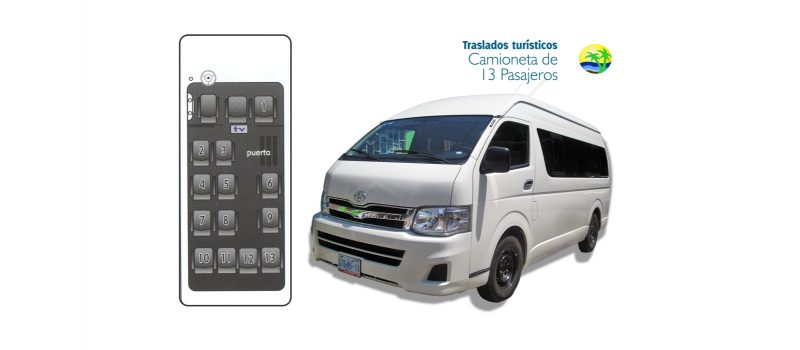 Traslados Turísticos Camioneta para 13 pasajeros